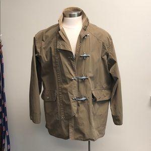 Waxed Cotton Toggle Coat